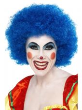 Clown Wig In Blue